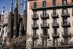 Stock Photo of sagrada familia by antoni gaudi in barcelona spain