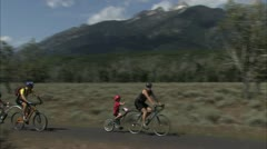 bicycle riders - stock footage