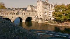 Stock Video Footage of Pultney Bridge, Bath,UK