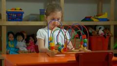 Preschool child playing Stock Footage