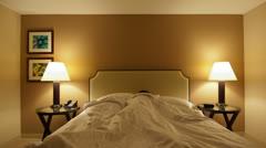 Time Lapse of Man Sleeping -  4K - 4096x2304 Stock Footage