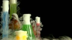 Science beakers Stock Footage