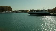 speed boat travel in the water - stock footage