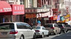 Chinatown San Francisco business car park HD 5579 Stock Footage