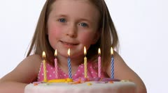 Sixth birthday Stock Footage