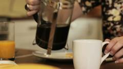 Coffee cafetiere Stock Footage