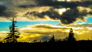 The rays of the sun through the clouds. time laps Stock Footage