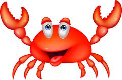 Cute crab cartoon Stock Illustration