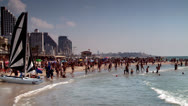 Stock Video Footage of Crowded Beach in the Summer 3