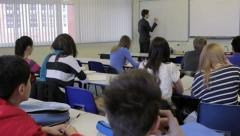 High school classroom - stock footage