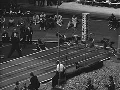 Vintage Sports_Running obstacles - stock footage