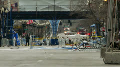 Boston Marathon Bomb Site Stock Footage