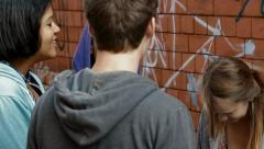 Urban teenagers Stock Footage