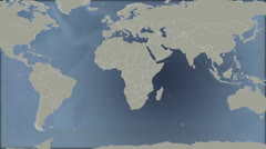World Map Asia Stock Footage