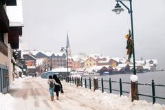 Free your mind in Hallstatt, Austria - stock photo