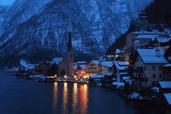 Early morning at Hallstatt, Austria. - stock photo