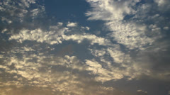 Evening Clouds in  Time Lapse Stock Footage