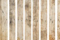 old wood on white background - stock photo