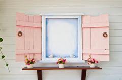 Open window - stock photo