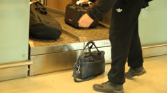 Baggage at the airport Stock Footage