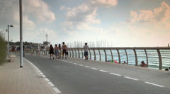 Promenade next to Beach in the Summer Stock Footage