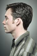 Adult Male Profile Portrait - stock photo
