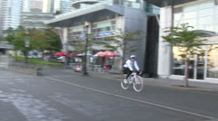 Color Coordinated Bicycle Rider - stock footage
