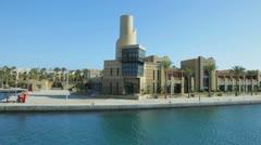 The international harbor of port Ghalib Stock Footage