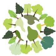 green space - stock illustration