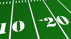 Football field, green grass, sport, stadium, arena. Stock Footage