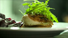 Finishing touches of a meal Stock Footage