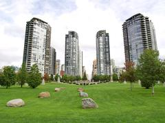 Towers of Vancouver - stock photo
