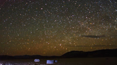 Galaxy Stars Night Timelapse over Racetrack Playa Death Valley - stock footage