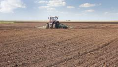 Agricultural machinery, sowing Stock Footage