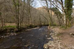 Heddon River Valley Exmoor Devon - stock photo