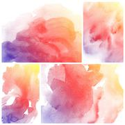 Watercolor Background. Set of colorful Abstract water color art hand paint Stock Photos