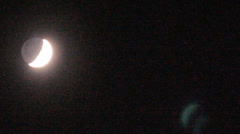 Month, moon moves on the night sky along planets Stock Footage