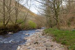 Heddon Valley Exmoor National Park Devon - stock photo