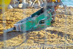 Iron digger - stock photo