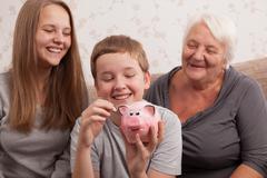 Happy saver Stock Photos
