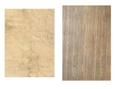 Old wood and paper background Stock Photos