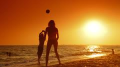 Summer Beach Vacation Fun Stock Footage