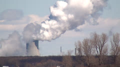 Nuclear Power Plant, Air Pollution, Energy, Electricity Stock Footage