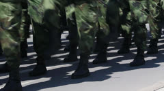 Soldiers March Stock Footage