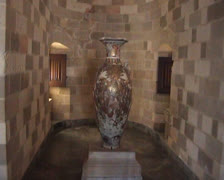 Vase on a plinth in the Palace of the Grandmasters Stock Footage