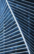 Futuristinen ulkoa rakennuksen rakenteilla Kuvituskuvat