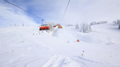 ski lift - stock footage