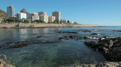 Seapoint promenade,Capetown Stock Footage