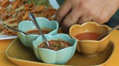 Take salsa sauce Stock Footage