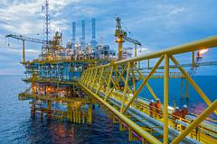 Oil and gas transfer platforms Stock Photos